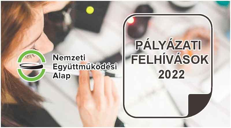 NEA pályázatok 2022
